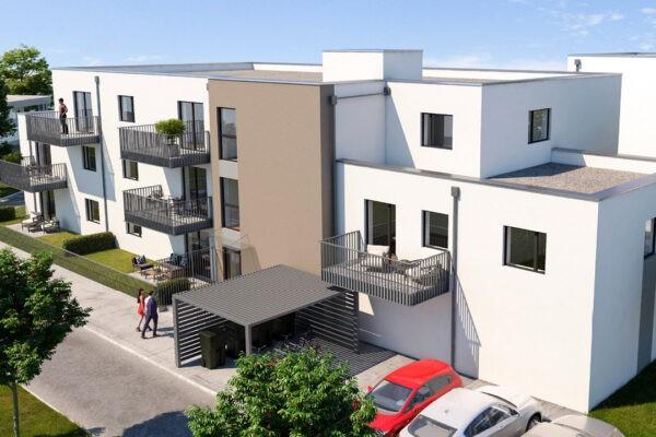Visualisierung Neubauprojekt betreute Wohnungen Freigericht