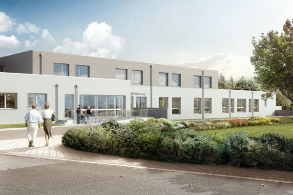 Visualisierung Neubauprojekt Wohn- und Pflegezentrum Neuenstein